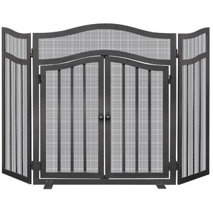 3 Panel Iron Fireplace Screen by Uniflame Corporation