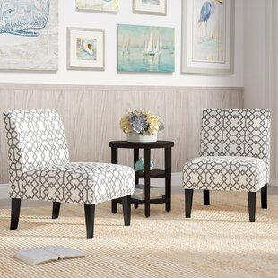 Highland Dunes Veranda Slipper Accent Chair (Set of 2)