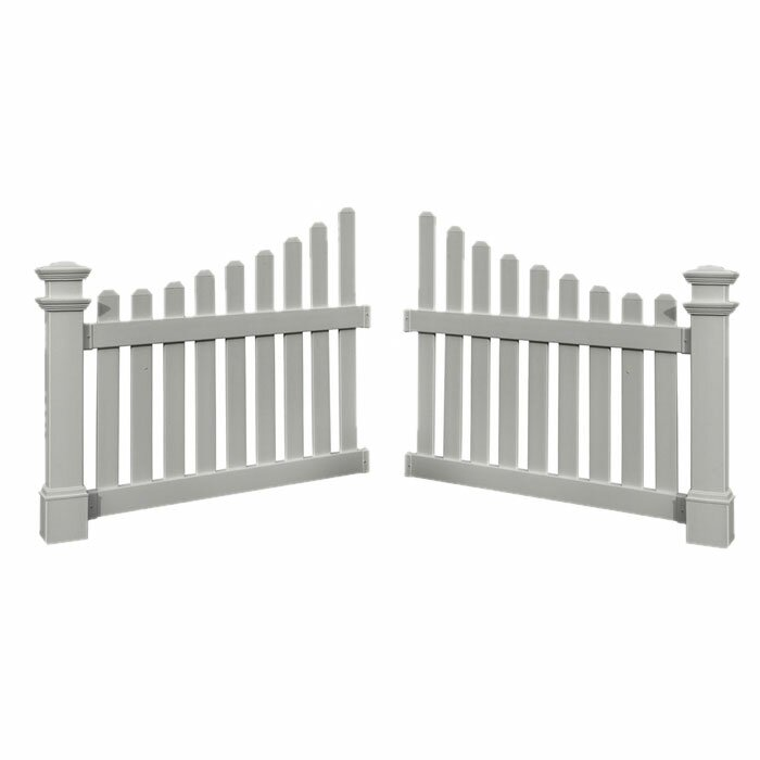 New England Arbors 3.5 ft. H x 4 ft. W Cottage Gate