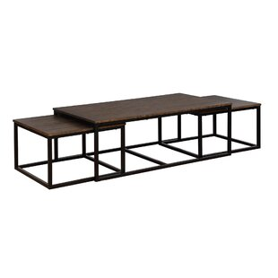 Gracie Oaks Hensley 3 Piece Coffee Table and Nesting Tables Set