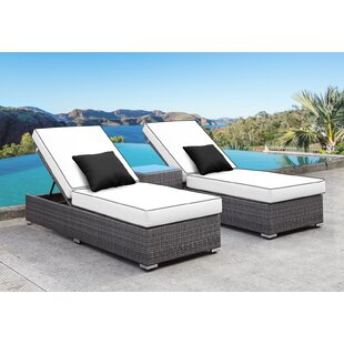 Zavis 3 Piece Reclining Chaise Lounge Set