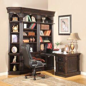 Callingwood Peninsula Desk And Bookcase