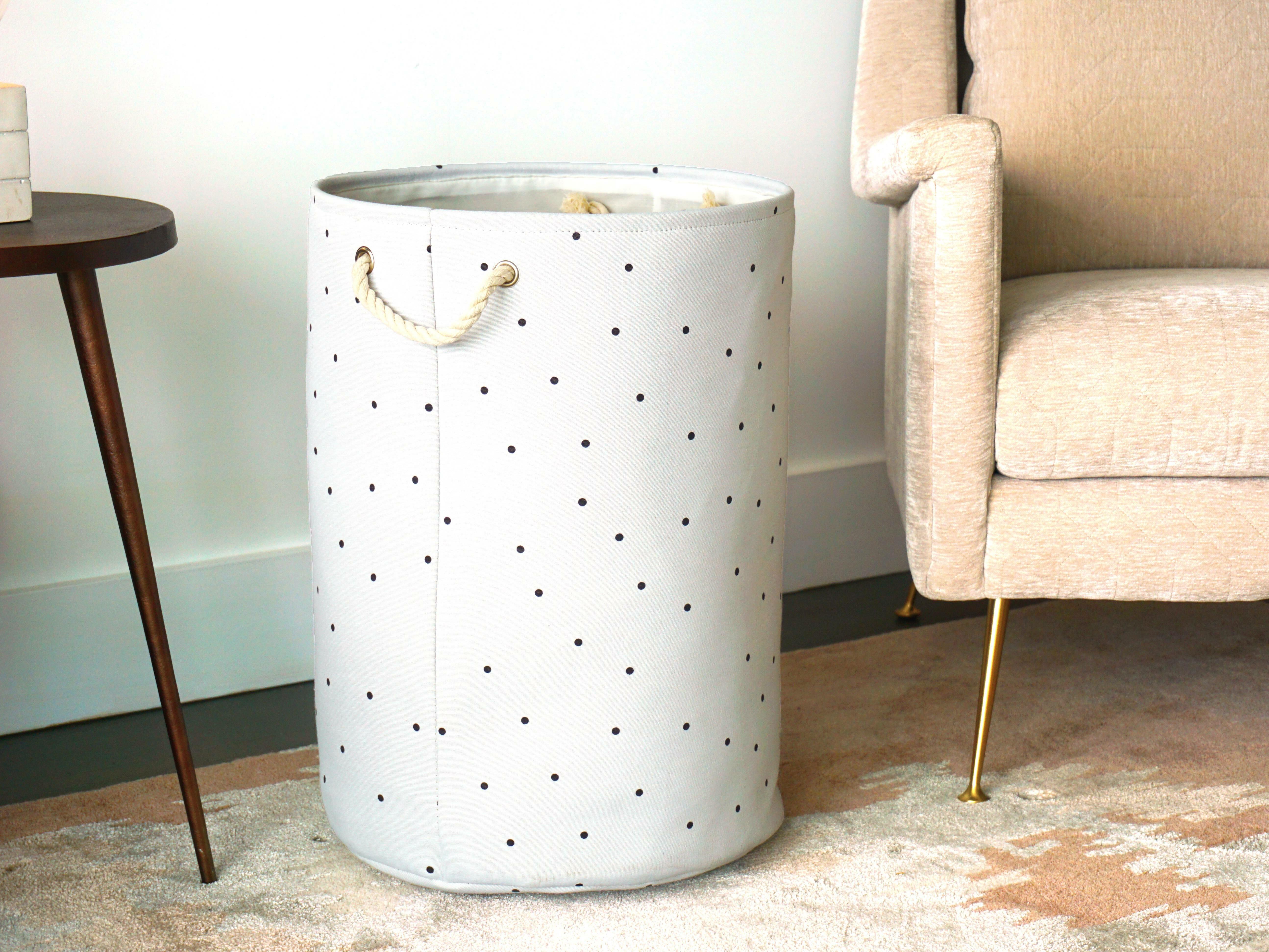 Charlton Home Polka Dots Laundry Hamper