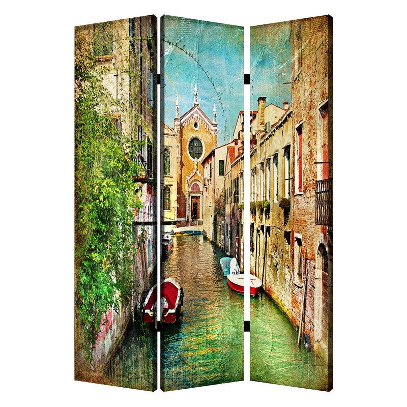 Screen Gems Italian Passage 3 Panel Room Divider Wayfair