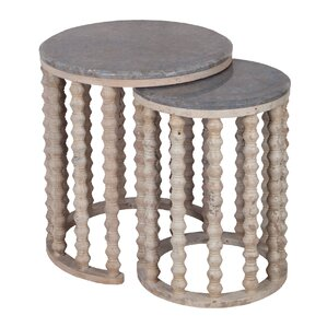 Bahati 2 Piece Nesting Tables by Bungalow Rose