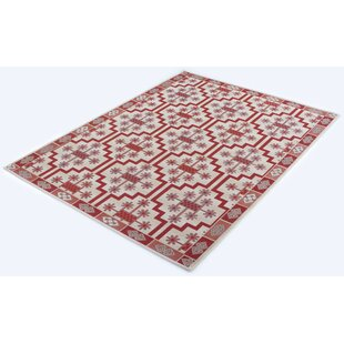 Lettunich Rome Flatweave Red/Beige Rug By World Menagerie