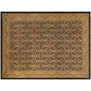 Bargain Grigori Hand-Knotted Rectangle Wool Black Area Rug By Isabelline