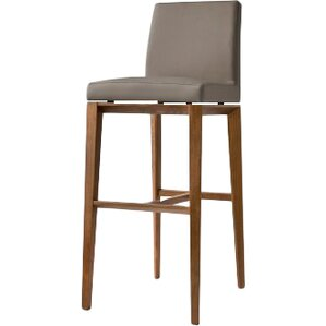 Bess 25.6  Bar Stool  sc 1 st  AllModern : bar stools wood and leather - islam-shia.org