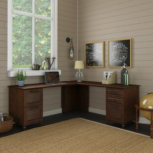 Volcano Dusk Wood L-Shape Executive Desk