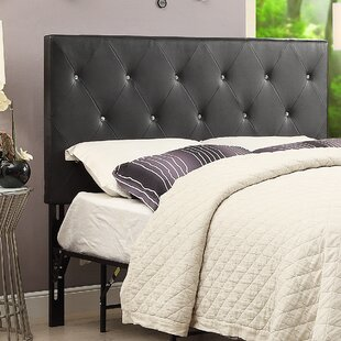 Areswell Crystal Diamond Tufted Upholstered Headboard By Mercer41