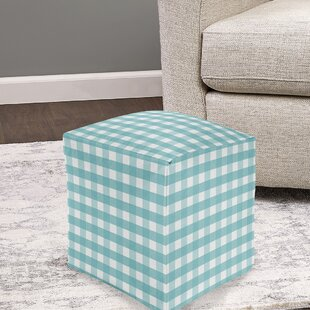 Hillis Gingham Pouf by Gracie Oaks