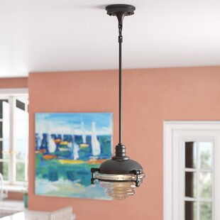 Aquila 1-Light Schoolhouse Pendant by Breakwater Bay