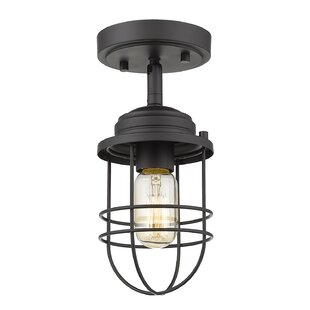 Kaeden 1-Light Semi-Flush Mount by Gracie Oaks