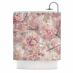 Reviews 'Cherry Blossoms' Photography Shower Curtain By East Urban Home