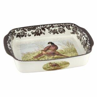 Woodland Rectangular Handled Lasagne Pheasant Baking Dish