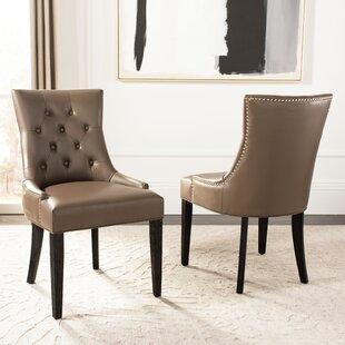 DeMontfort Upholstered Dining Chair (Set of 2) Alcott Hill
