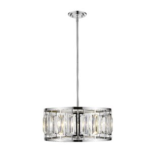 Everly Quinn Vella 5-Light LEDDrum Pendant