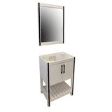 WhiteWater 24 Single Bathroom Vanity Set with Mirror by CraftMark