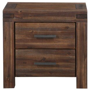 Resch Rustic 2 Drawer Nightstand by Loon Peak