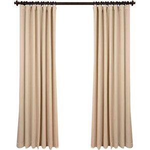 Aldreda Extra Wide Solid Blackout Thermal Rod Pocket Single Curtain Panel