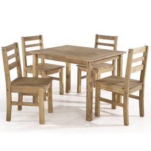 Gracie Oaks Robin 5 Piece Solid Wood Dining Set