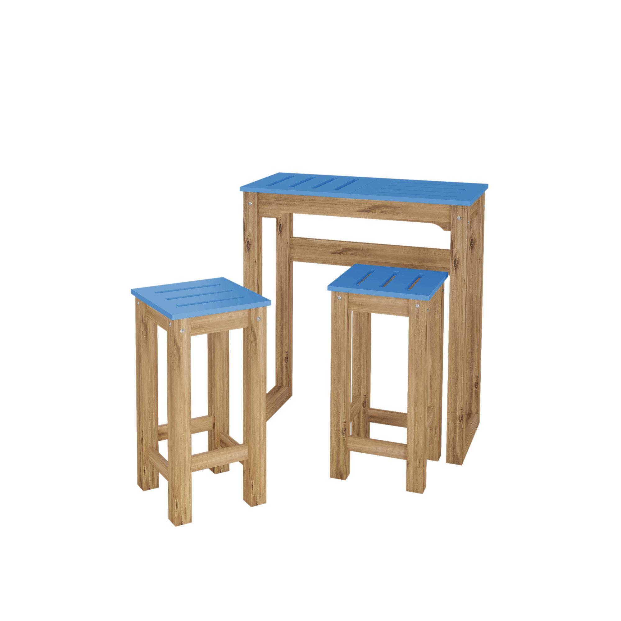 Millwood Pines Wiggin 3 Piece Pub Table Set