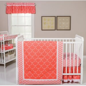 Shell 3 Piece Crib Bedding Set
