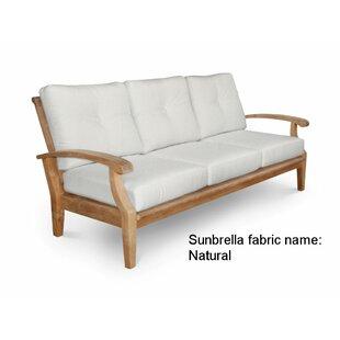 Douglas Nance Cayman Teak Patio Sofa with Sunbrella Cushions