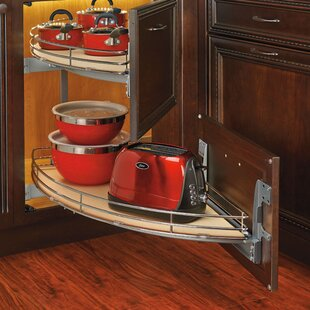Rev-A-Shelf Curve Two Tier Left-Handed Blind Corner Organizer