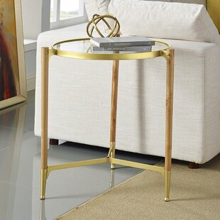 Cathrine Round End Table by Wrought Studio