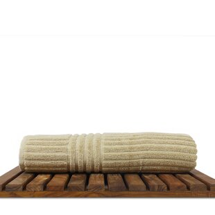 Isiah Ribbed Turkish Cotton Bath Towel (Set of 4)