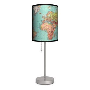 Read Reviews Travel 1970's Map 20 Table Lamp By Lamp-In-A-Box