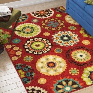 Conant Woven Red Indoor/ Outdoor Area Rug