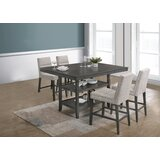 Burk 5 Piece Counter Height Dining Set by Gracie Oaks