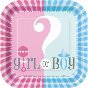 Gender Reveal Paper Disposable Luncheon Plate (Set of 9)