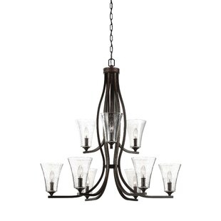 Darby Home Co Oneal 9-Light Shaded Chandelier