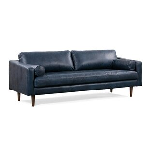 Kate Leather Standard Sofa by Foundry Select