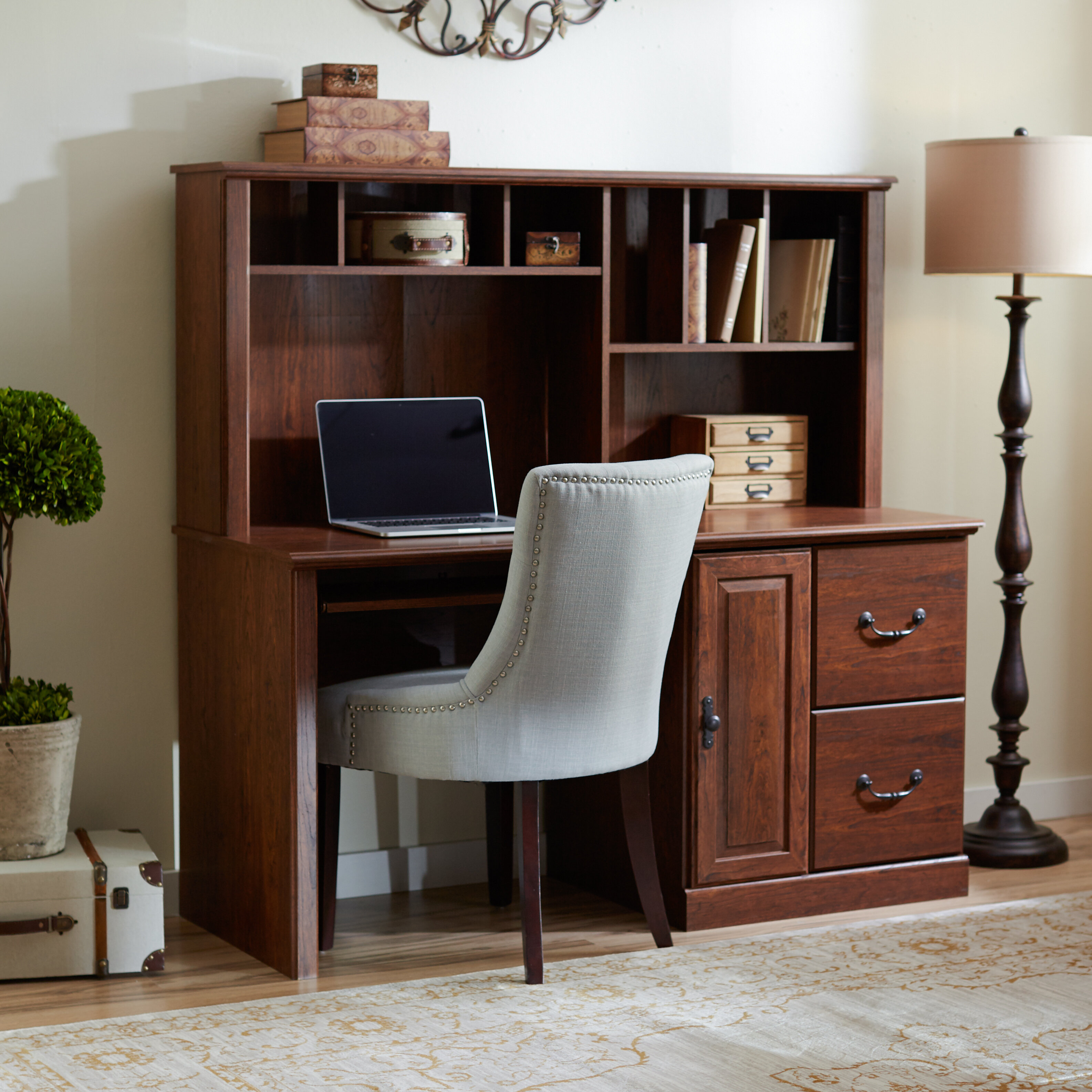drawers furniture desk corner design amazing intended to for white regard and stylish hutch with drawer