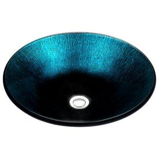 Read Reviews Stellar Series Glass Circular Vessel Bathroom Sink By ANZZI