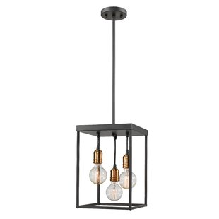 Crepeau 3-Light Square/Rectangle Pendant by Williston Forge