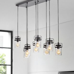 Donald 8-Light Cluster Pendant By Williston Forge Ceiling Lights