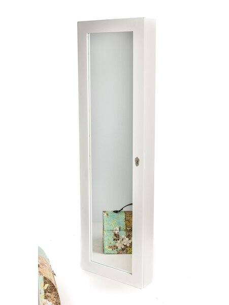 meridian point over the door or wall mount jewelry armoire with mirror u0026 reviews wayfair