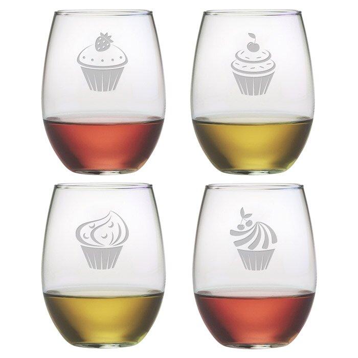 Cupcake 21 oz. Stemless Wine Glass