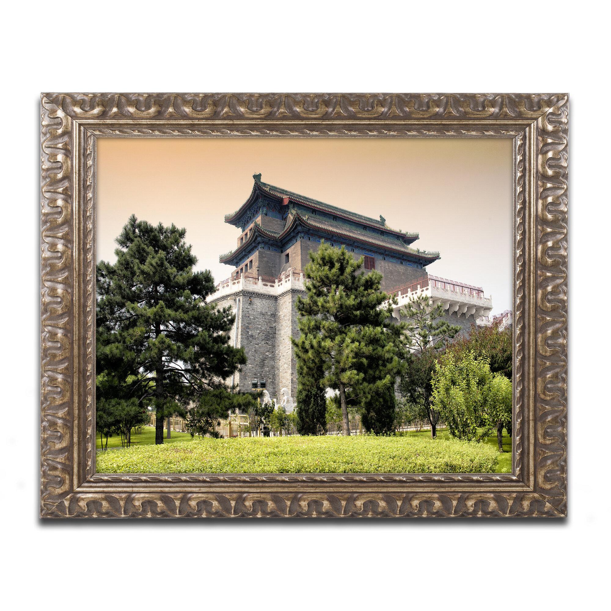 Trademark Art Temple By Philippe Hugonnard Framed Photographic Print Wayfair