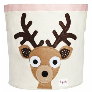 Deer Fabric Storage Bin By 3 Sprouts