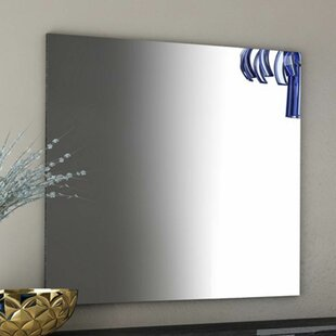 Brayden Studio Salerno Rectangle Grey Wall Mirror