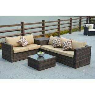 Rippeon 4 Piece Sofa Set With Cushions by Brayden Studio 2019 Coupon
