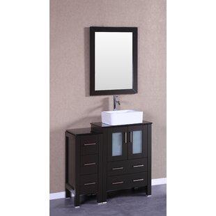 Price comparison Lucan 36 Single Bathroom Vanity Set with Mirror ByBreakwater Bay