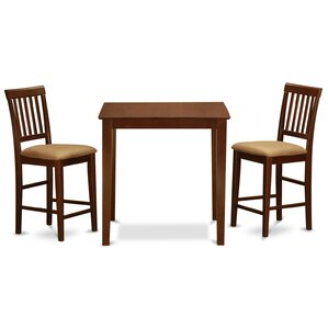 Givens 3 Piece Counter Height Bistro Set by Three Posts