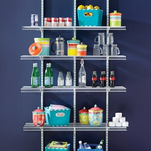Pantry 122cm 4 Shelf Shelving Unit By Closetmaid